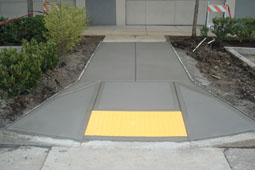 Concrete accessibility ramp - cedar hills oregon