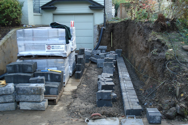 New Residential Driveway and Move Retaining Wall