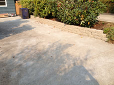 Residential Driveway and Retaining Wall