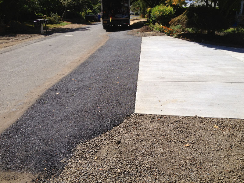 Install new concrete driveway sidewalk trench drain and for Driveway trench drain