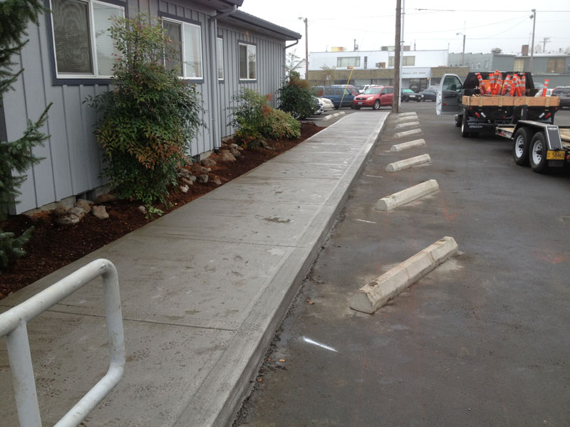 Commercial concrete sidewalk and accessibility ramp for Removing concrete walkway
