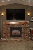 Residential Rock Fireplace