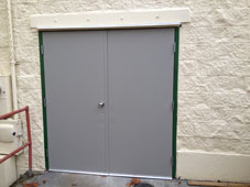 Commercial Steel Doorway Installation